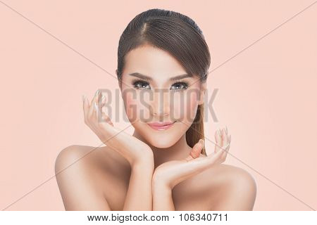 Beauty Asian Portrait Perfect Face and Skin