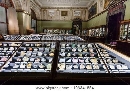Minerals In Naturhistorisches Museum, Vienna