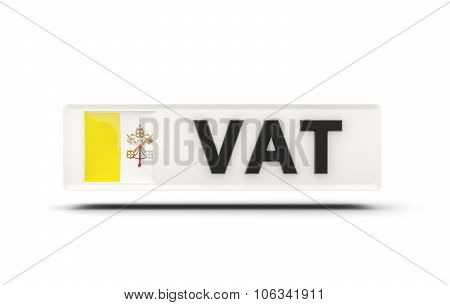 Square Icon With Flag Of Vatican City