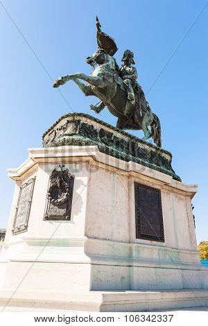 Statue Of Archduke Charles On Heldenplatz, Vienna