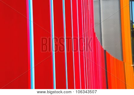 Blue Red Abstract Metal In   Background
