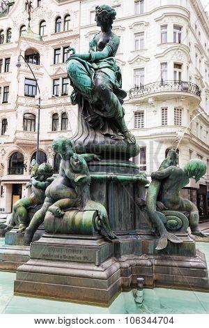 Providentia Figure In Providentiabrunnen Fountain