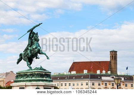 Statue Of Archduke Charles On Heldenplatz Square