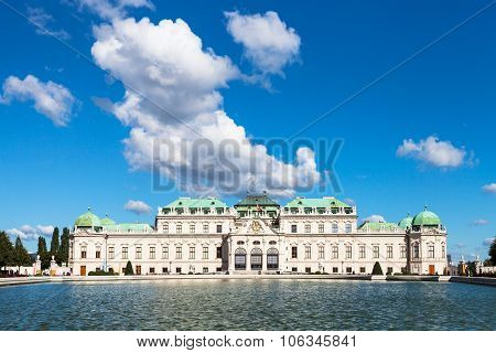 Blue Sky With Cloud Over Upper Belvedere Palace