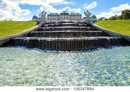 Fountain And Upper Belvedere Palace, Vienna