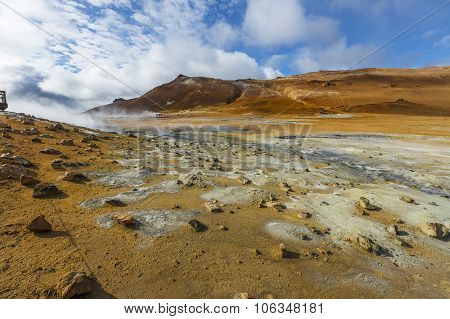 Namafjal Geothermal Field, Iceland, Europe