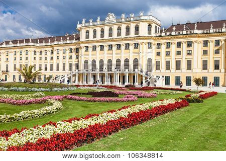 Flowers In Garden Of Schonbrunn Palace, Vienna