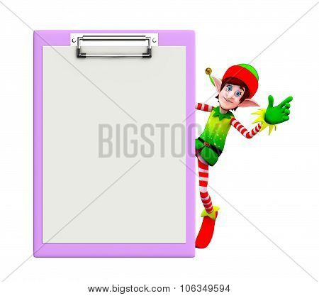 Elves Character With Notepad