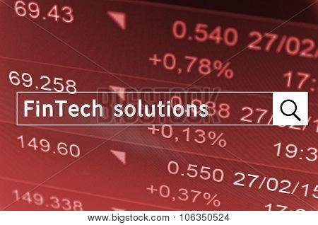 FinTech solutions