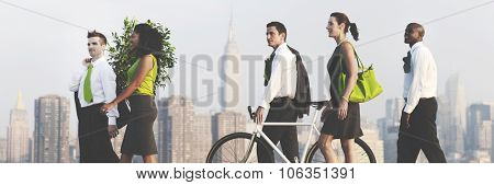 Green Business Commuters Conservation Corporate Concept
