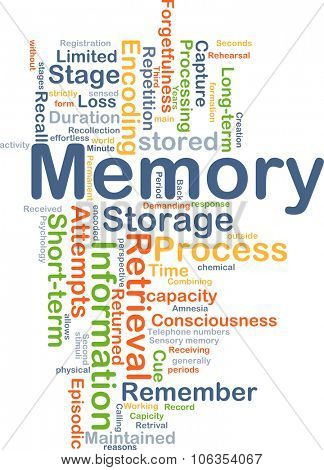 Background concept wordcloud illustration of memory