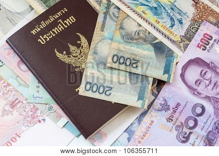 Thailand Passport And Money