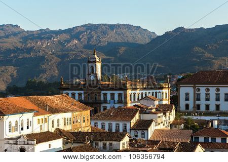 The beautiful city of Ouro Preto in Minas Gerais, Brazil