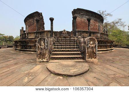 Buddhist Stupa In Pollonnaruwa.