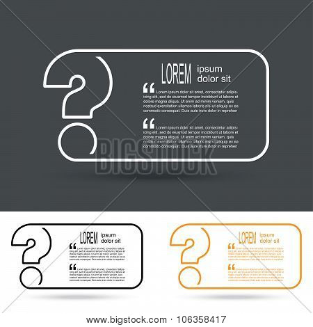 Creative Question Mark Icon. Faq Sign. Vector Illustration.