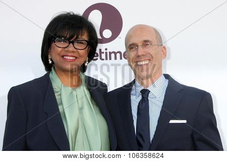 LOS ANGELES - DEC 10:  Cheryl Boone Isaacs, Jeffrey Katzenberg at the 23rd Power 100 Women in Entertainment Breakfast at the MILK Studio on December 10, 2014 in Los Angeles, CA
