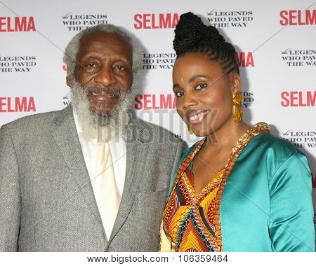 SANTA BARBARA - DEC 6:  Dick Gregory, Ayanna Gregory at the