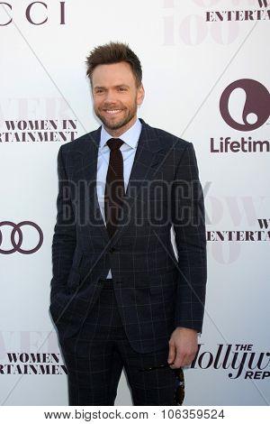LOS ANGELES - DEC 10:  Joel McHale at the 23rd Power 100 Women in Entertainment Breakfast at the MILK Studio on December 10, 2014 in Los Angeles, CA