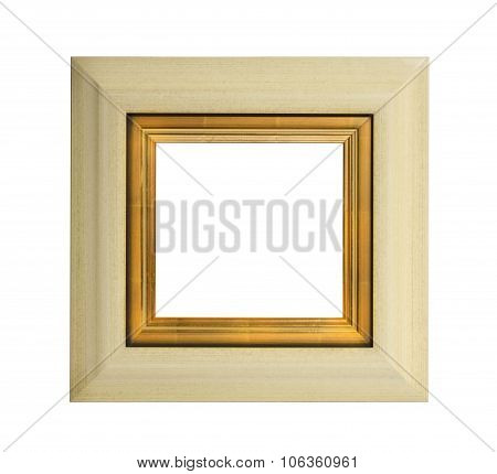 Frame Square Wall Hanging Or Mirror Some Inner Gilding Isolated