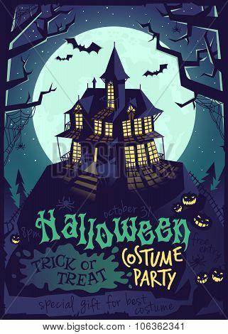 Halloween landscape poster.