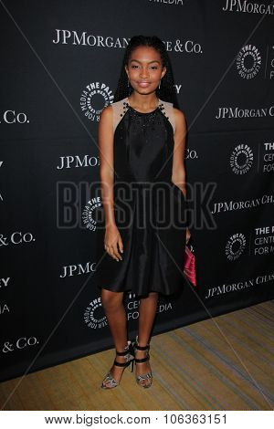 LOS ANGELES - OCT 26:  Yara Shahidi at the Paley Center's Hollywood Tribute to African-Americans in TV at the Beverly Wilshire Hotel on October 26, 2015 in Beverly Hills, CA