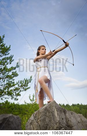 Young Girl Archery