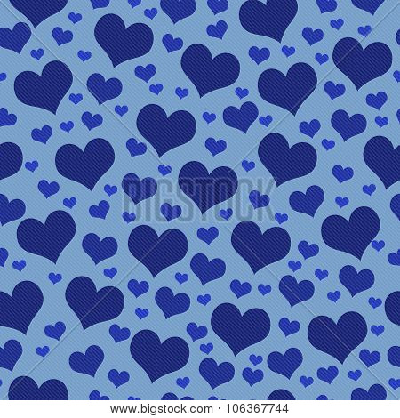 Blue Hearts Tile Pattern Repeat Background