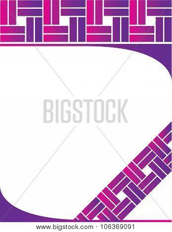 Purple Pink Letterhead Background