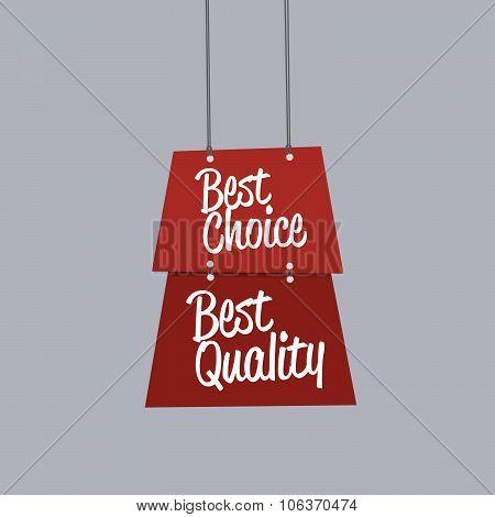 Best Choice Label Flat Design