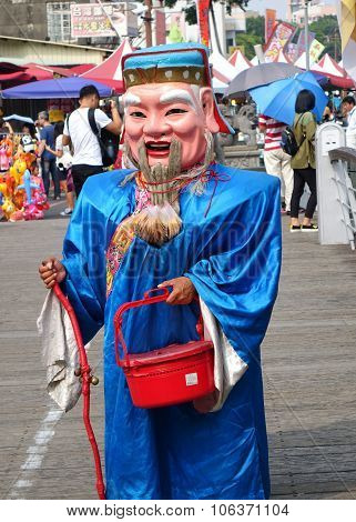 Man Disguised As Chinese God Of Wealth