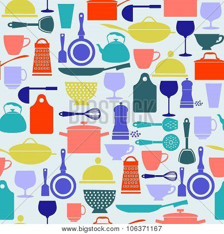 Background Kitchenware And Restaurant , Glassware Icons Set