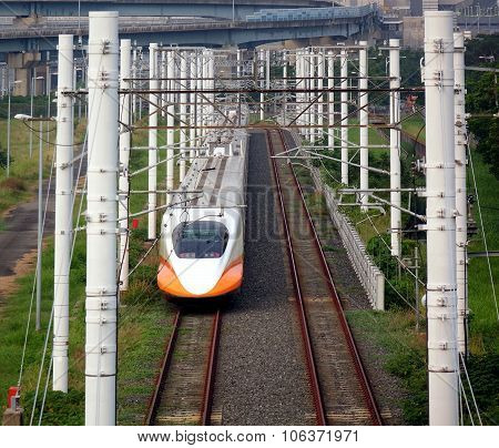 Modern High Speed Railway Bullet Train