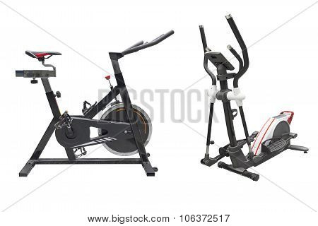exercise bike and ski simulator