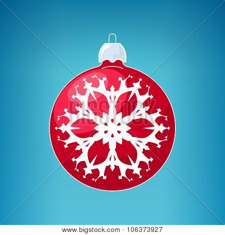 Red Ball With Snowflake