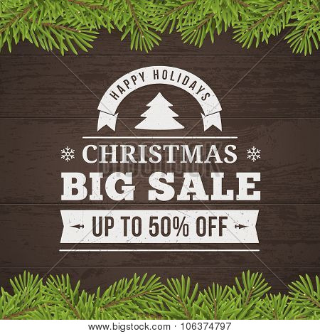 Christmas Big Sale Background