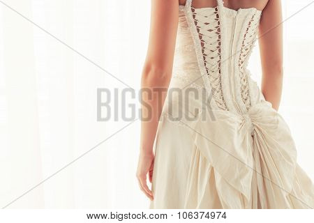 Brides corset from back