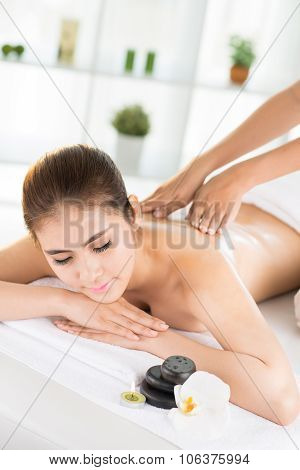 Massaging At A Spa