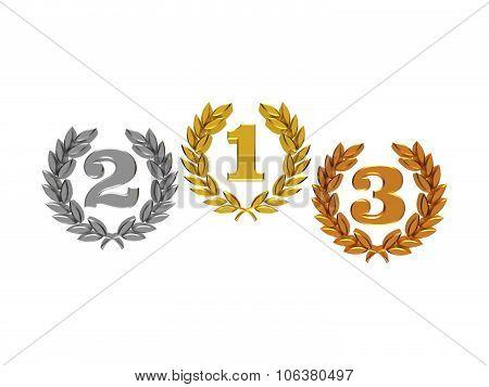 Numbers In A Laurel Wreath