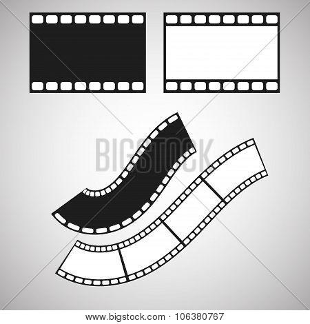 Film stripe pattern brush. Blank celluloid.