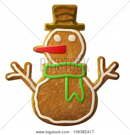 Gingerbread Snowman Symbol Decorated Colored Icing