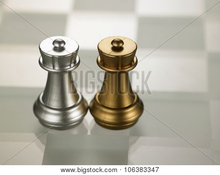 chess piece rook on the chess board