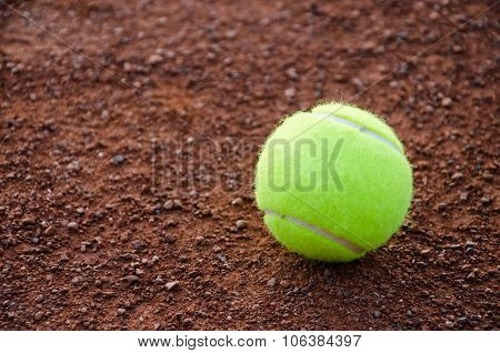 Yellow ball for tennis.