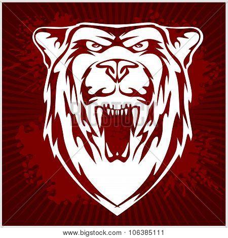 White bear head emblem.