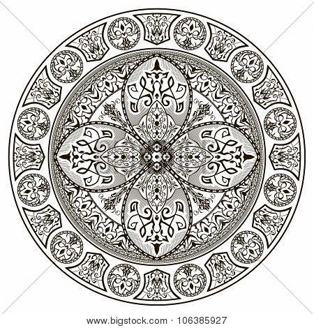 Orient traditional ornament. Mandala.