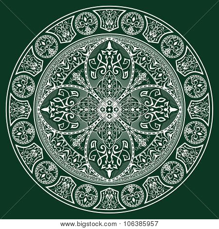 Orient traditional ornament. Mandala.