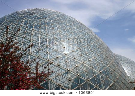 Two Giant Greenhouses