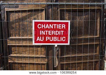 Do Not Enter In French Language