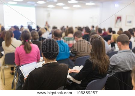 Audience in the lecture hall.