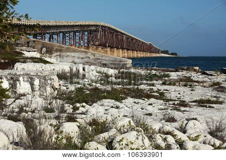 Old Seven Mile Bridge In Florida Keys