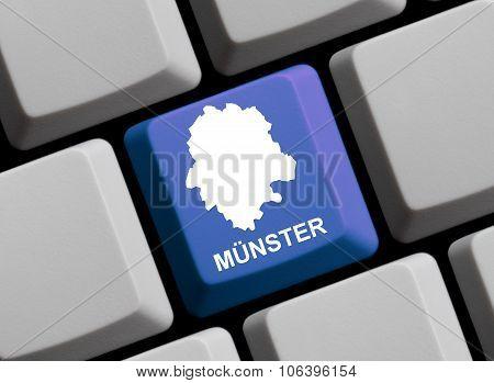 Computer Keyboard - Outline Of Muenster German